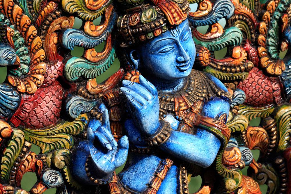 In Indien ist Asien bunt - indische Gottesstatue