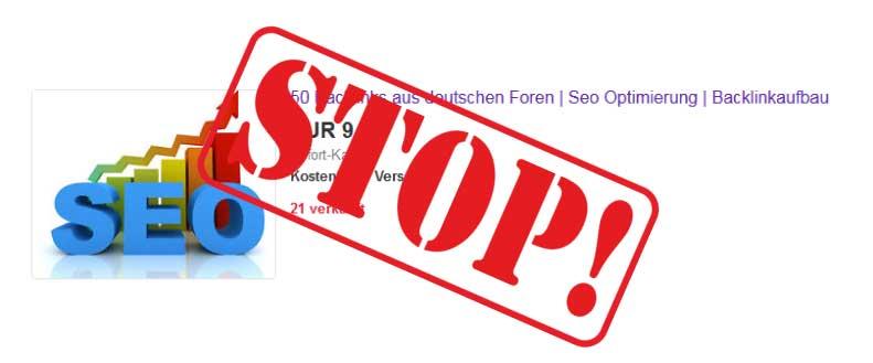 SEO-Tipps: Finger weg von gekauften ebay-Links