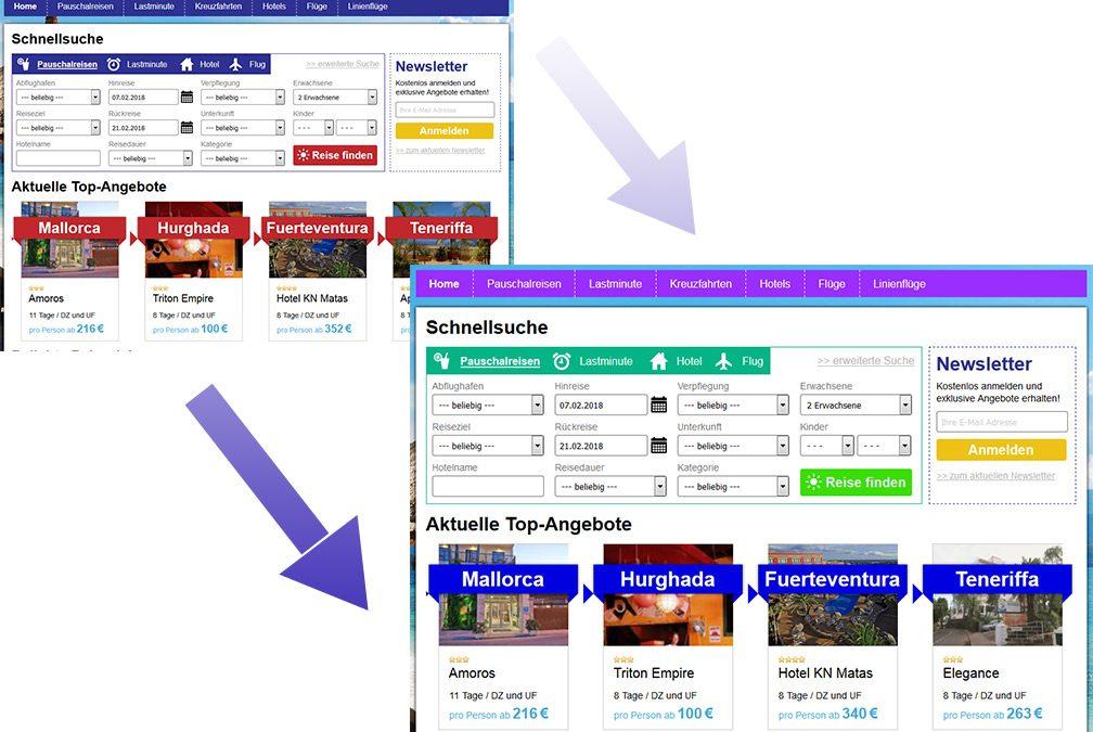 Reiseshop: So verändern Sie das CSS im Shopbaukasten